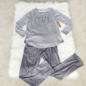 "Brand New Rae Dunn ""Cozy"" pajama set"